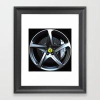 Ferrari FF Wheel Framed Art Print