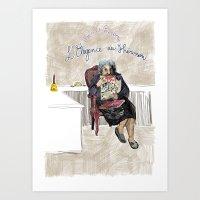 L'élégance Du Hérisso… Art Print