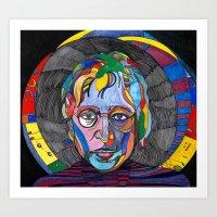 Psychedelic Lennon Art Print