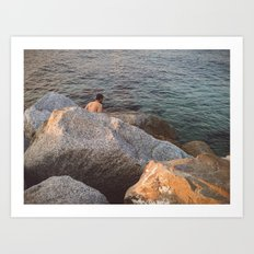 Wait for me underneath the water Art Print