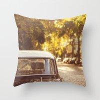 Autumn streets Throw Pillow