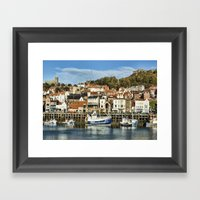 Scarborough Harbour Framed Art Print