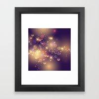 Festive Sparkles in Purple Framed Art Print