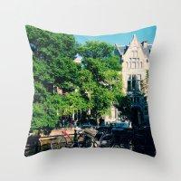 explore the city  Throw Pillow