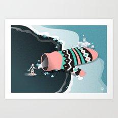 Mitten cave Art Print