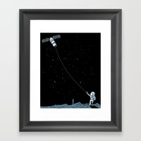Satellite Kite Framed Art Print