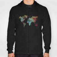 World Map After Dark Hoody