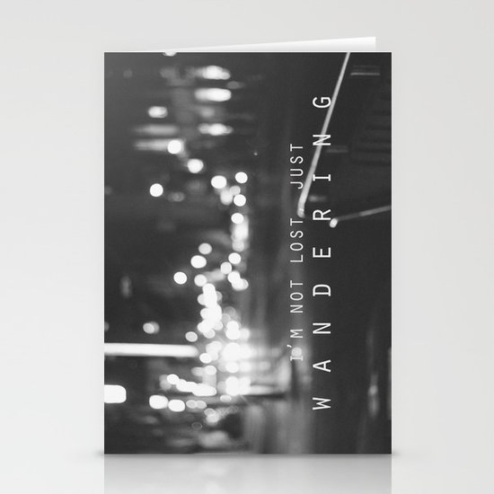 just wandering. Stationery Card