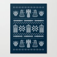 Who's Sweater Canvas Print