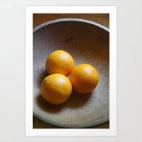 Orange you glad I didnt say Banana Art Print