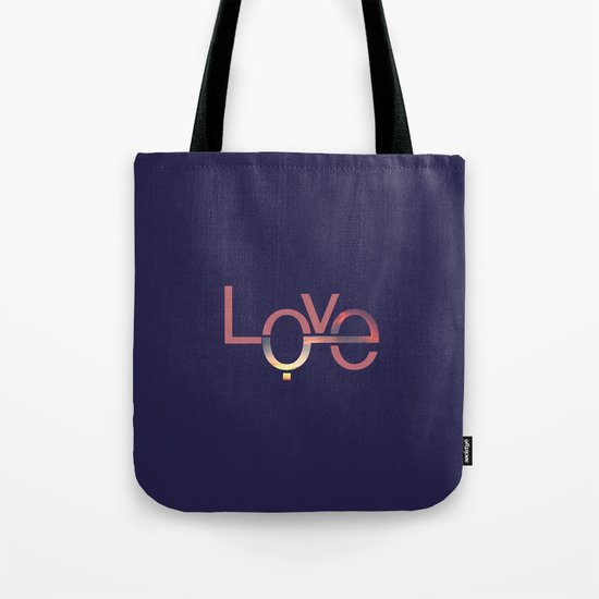 Love in English and Arabic Tote Bag