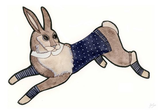 Running Bunny Art Print