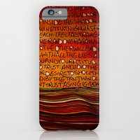 LINE AND WORDS -1 in color iPhone 6 Slim Case