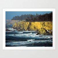 Oregon Surf Art Print