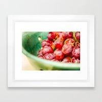 Red Grapes Framed Art Print
