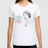 I Want It All Womens Fitted Tee Ash Grey SMALL