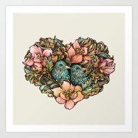 Bluebird Valentine Art Print