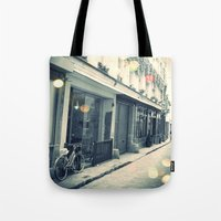 Bicycle and cobblestone Tote Bag