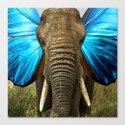 Elephant clock Canvas Print