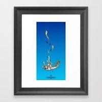 The Skydiving Mummy Framed Art Print