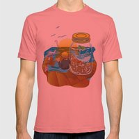 Fish Tales Mens Fitted Tee Pomegranate SMALL