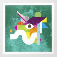 Mythical Float Rate. Art Print