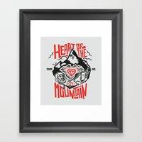 Heart Of The Mountain Framed Art Print