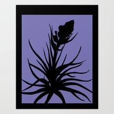 Tillandsia in Chocolate Brown - Original Floral Botanical Papercut Design Art Print