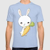 Bunny Carrot 2 Mens Fitted Tee Tri-Blue SMALL