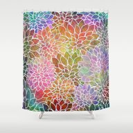 Floral Abstract 6 Shower Curtain