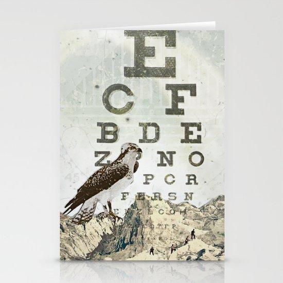 eye chart II Stationery Card