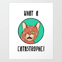 Catastrophe Cat Art Print