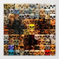 100 Painted Skulls Canvas Print
