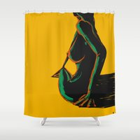 Swimmer #1 Shower Curtain
