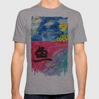 Sentiment Fishing Mens Fitted Tee Athletic Grey SMALL