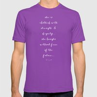 SHE IS - B & W Mens Fitted Tee Ultraviolet SMALL