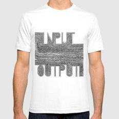 OutputInput White SMALL Mens Fitted Tee