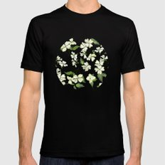 April blooms(Dogwoods_blue) SMALL Mens Fitted Tee Black