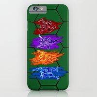 iPhone & iPod Case featuring TMNT Rock by LightningArts