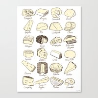 Cheeses Is Love Canvas Print