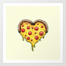 Pizza is My Valentine Art Print