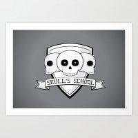 Skull's School Art Print