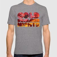 COLD SUMMER NIGHTS Mens Fitted Tee Tri-Grey SMALL