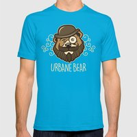 Urbane Bear Mens Fitted Tee Teal SMALL