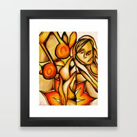 Flower- Reflect  Framed Art Print