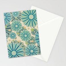 Retro Crazy Flowers Stationery Cards