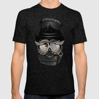 Dr. Who Mens Fitted Tee Tri-Black SMALL