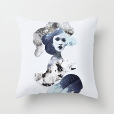 blue emotions Throw Pillow