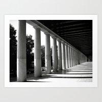 Parthenon Perspective Art Print