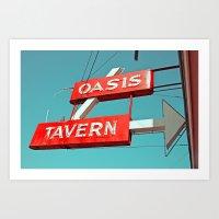Oasis sign Art Print